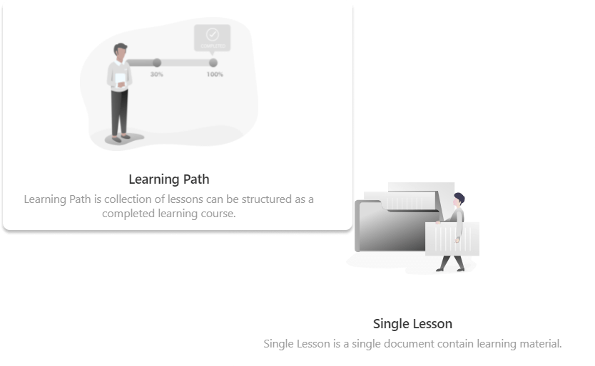 learning path, single lesson