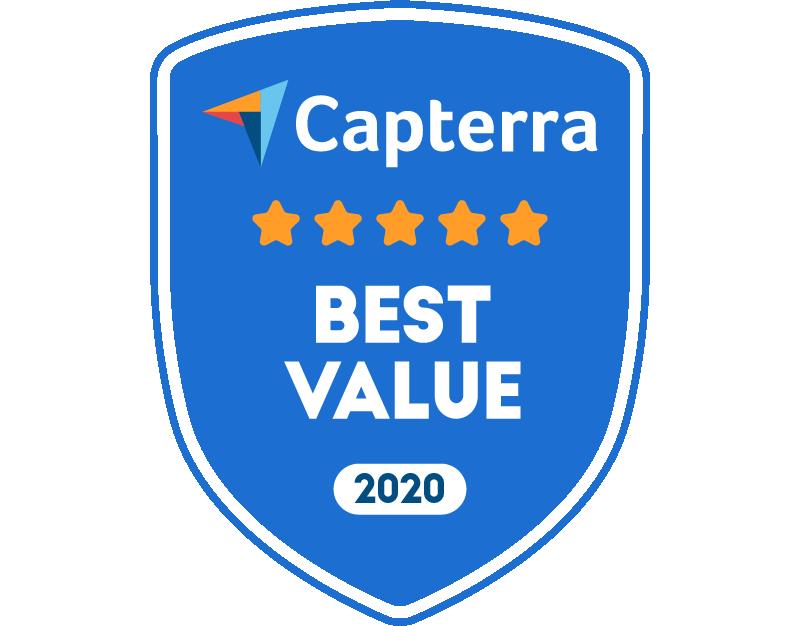 Capterra Best Value for Employee Engagement Mar-20