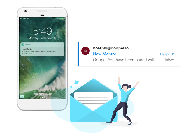 email and push notifications for introduction